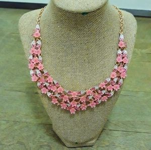 Natasha Pink Floral Statement Necklace